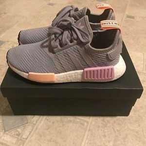 b01e7ee1240b6 adidas Shoes - NMD R1 W Light Granite Clear Orange